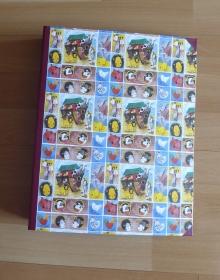 Handgefertigtes Ringbuch für DIN A4 aus Pappe, Papier und Buchleinen - Arche Noah - Handarbeit kaufen