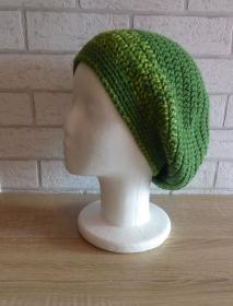 gehäkelte Mütze  / Beanie - grün
