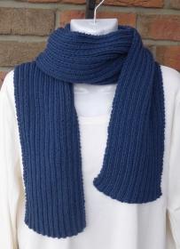 gestrickter Schal -  blau (Länge 186 cm)  - Handarbeit kaufen