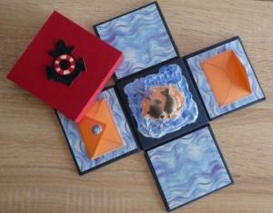 Geldgeschenkverpackung - Seehunde  - Handarbeit kaufen