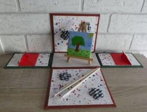 Geldgeschenkverpackung - Künstler/Maler - Handarbeit kaufen