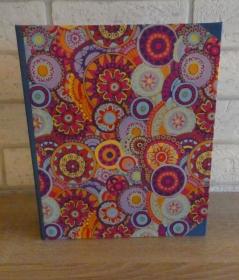 Handgefertigtes Ringbuch für DIN A5 aus Pappe, Papier und Buchleinen - Motiv: Mandala - Handarbeit kaufen