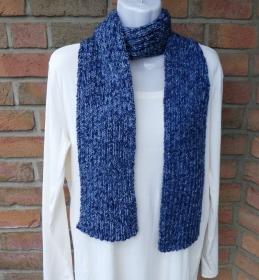 gestrickter Schal -  blau (Länge 164 cm)  - Handarbeit kaufen