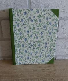 Handgefertigtes Ringbuch für DIN A6 aus Pappe, Papier und Buchleinen - Motiv: Brombeeren - Handarbeit kaufen