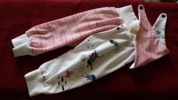 Sale Versandkostenfrei Handgefertigt Mitwachshose Maritim Hose Pumphose passendes Tuch Gr. 74