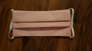 Waschbare Behelfs-Mund- und Nasenmaske 1 Stück Baumwolle doppellagig rosa genäht kaufen