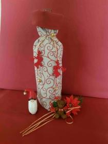 handgefertigt Weihnachten Weihnachtsdeko Flaschentasche Geschenktasche Geschenkverpackung Weintasche