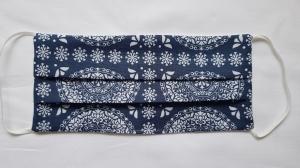 Waschbare Behelfs-Mund- und Nasenmaske 1 Stück Baumwolle doppellagig blau genäht kaufen