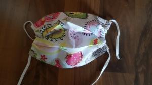 waschbare Kinder Behelfs-Mund- und Nasenmaske 1 Stück Baumwolle einlagig Mädchenmuster genäht kaufen