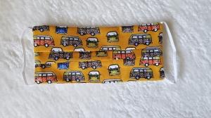 Waschbare Behelfs-Mund- und Nasenmaske 3 Stück Baumwolle doppellagig gelb Bulli genäht kaufen