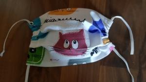 waschbare Kinder Behelfs-Mund- und Nasenmaske 1 Stück Baumwolle einlagig witzige Katzen genäht kaufen