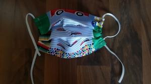 waschbare Kinder Behelfs-Mund- und Nasenmaske 1 Stück Baumwolle einlagig Autos genäht kaufen