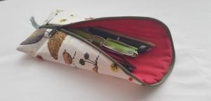 Stiftemäppchen Schminktäschchen Utensilo Etui Federmäppchen Kosmetiktasche Hahn genäht kaufen