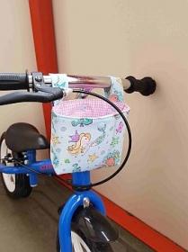 Handgemacht Lenkertasche Laufradtasche Rollertasche Fahrradtasche Utensilo Geschenk Meerjungfrau