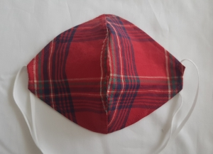 waschbare leichte Behelfs-Mund- und Nasenmaske 1 Stück Baumwolle kariert einlagig genäht kaufen