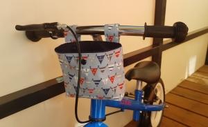 Handgefertigt maritime Lenkertasche Laufradtasche blau Wimpelkette genäht kaufen