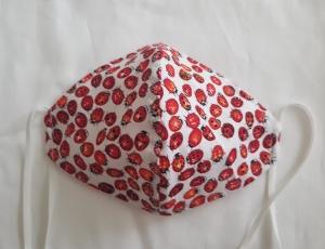 Waschbare leichte Motiv-Behelfs-Mund- und Nasenmaske 1 Stück Marienkäfer Baumwolle einlagig genäht kaufen