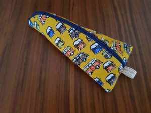 Handgefertigt Stiftemäppchen Universalmäppchen Federmäppchen Utensilo  Brillenetui Etui Krimskram Geschenk Bulli