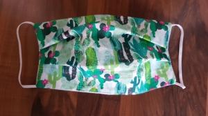 Waschbare Behelfs-Mund- und Nasenmaske 1 Stück Baumwolle Kaktus doppellagig genäht kaufen