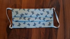 Waschbare Behelfs-Mund- und Nasenmaske 3 Stück Baumwolle doppellagig Schmetterlinge genäht kaufen