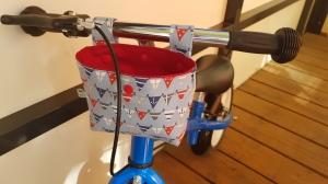 Handgefertigt maritime Lenkertasche Laufradtasche rot Wimpelkette genäht kaufen