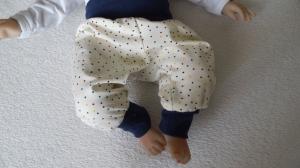 Handgefertigt Baby Mitwachshose Hose Pumphose Gr. 62 kaufen
