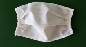 leichte Sommer Mundmaske einlagig weiß genäht kaufen