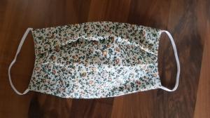 waschbare Behelfs-Mund- und Nasenmaske 1 Stück Baumwolle Blümchen doppellagig genäht kaufen