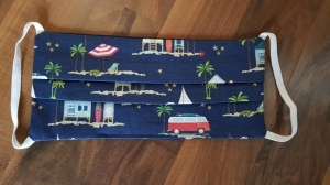 Waschbare Behelfs-Mund- und Nasenmaske 2 Stück Baumwolle doppellagig maritim Beach genäht kaufen