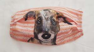 Waschbare Motiv-Behelfs-Mund- und Nasenmaske 1 Stück Hund Baumwolle einlagig genäht kaufen