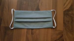 waschbare Behelfs-Mund- und Nasenmaske 1 Stück Baumwolle doppellagig grün dots genäht kaufen