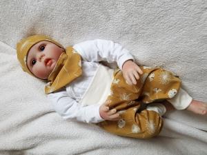 Babyset Mütze Tuch Mitwachshose Hose Pumphose Pusteblume senfgelb Gr. 62 kaufen