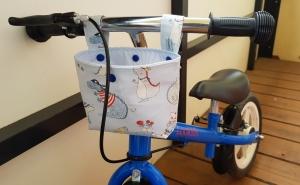 Lenkertasche Laufradtasche Utensilo Geschenk fröhliche Dinos genäht hellblau kaufen
