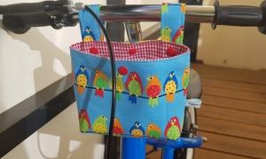 Lenkertasche Laufradtasche Utensilo Geschenk Vögel genäht kaufen