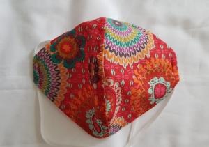 Waschbare Behelfs-Mund- und Nasenmaske 1 Stück Mandala Baumwolle einlagig genäht kaufen