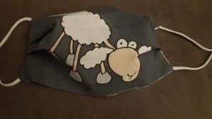 Waschbare Behelfs-Mund- und Nasenmaske 1 Stück Baumwolle doppellagig lustiges Schaf genäht kaufen