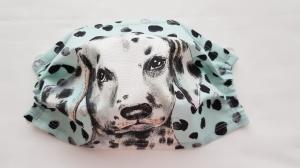 Waschbare Motiv-Behelfs-Mund- und Nasenmaske 1 Stück Dalmatiner Baumwolle einlagig genäht kaufen