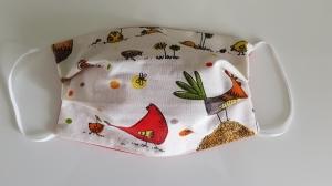 Waschbare Behelfs-Mund- und Nasenmaske 1 Stück Baumwolle doppellagig Hühner genäht kaufen