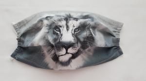 Waschbare Motiv-Behelfs-Mund- und Nasenmaske 1 Stück Löwe Baumwolle einlagig genäht kaufen