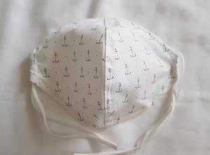 Waschbare Behelfs-Mund- und Nasenmaske 1 Stück maritim Anker Baumwolle einlagig genäht kaufen