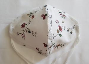 Waschbare leichte Sommer Motiv-Behelfs-Mund- und Nasenmaske 1 Stück Blumenranke Baumwolle einlagig genäht kaufen