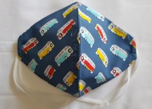 Waschbare leichte Sommer Motiv-Behelfs-Mund- und Nasenmaske 1 Stück Transporter Baumwolle einlagig genäht kaufen