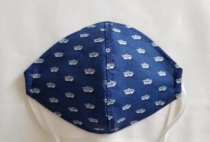 waschbare Behelfs-Mund- und Nasenmaske 1 Stück maritim Baumwolle einlagig genäht kaufen