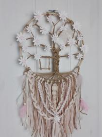 Makramee Dreamy Lebensbaum Deko Traumfänger  - Handarbeit kaufen