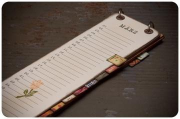 Geburtstags - Kalender zum Hängen / Lang XL