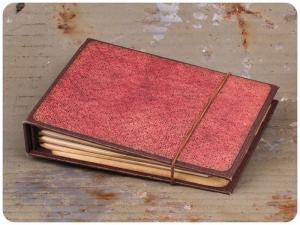 Handliches Passwortbuch - Weinrot