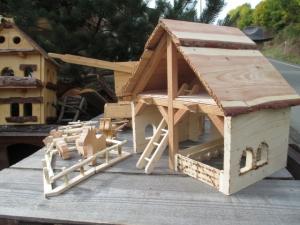 Handgefertigtes Bauernhaus