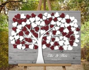 50x40 Hochzeitsbaum Wedding Tree Hochzeitsgästebuch Hochzeitsgeschenk