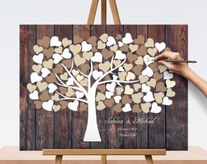50x40 Hochzeitsgeschenk, Wedding Tree, Gästebuch, Hochzeitsgeschenk