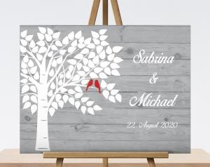 Hochzeitsgeschenk, Wedding Tree, Gästebuch, Geburtstagsgeschenk